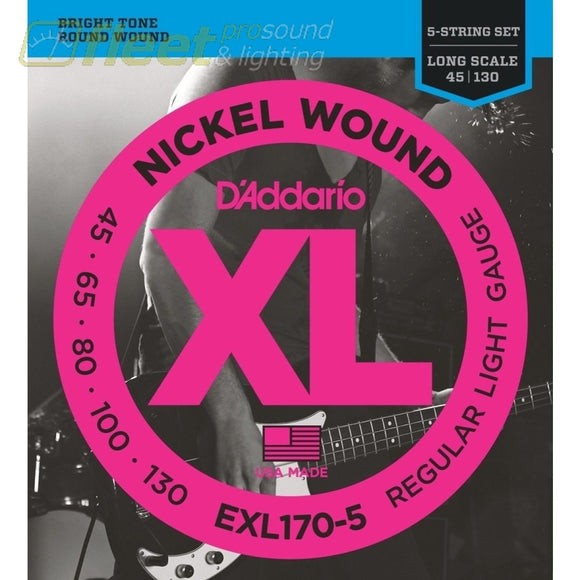 DAddario EXL170-5 Electric Bass Strings BASS STRINGS