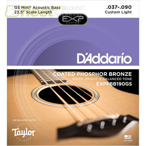 DAddario EXPPBB190GS Bass Strings - Mini Bass .037-0.90 BASS STRINGS