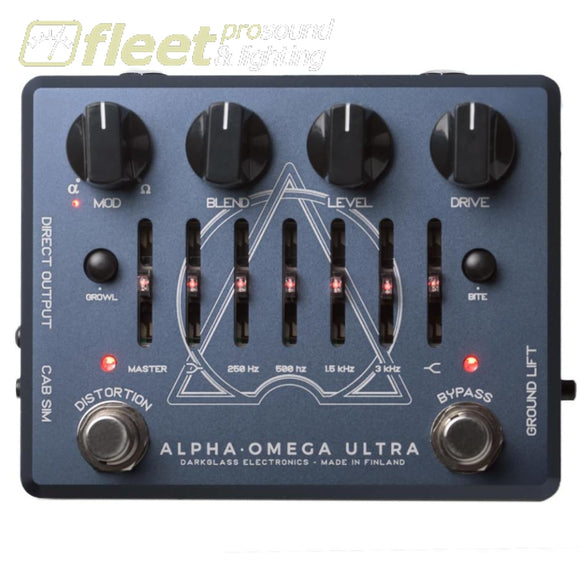 DarkGlass ALPHA-OMEGA ULTRA Cabinet Emulation Preamp BASS PREAMPS