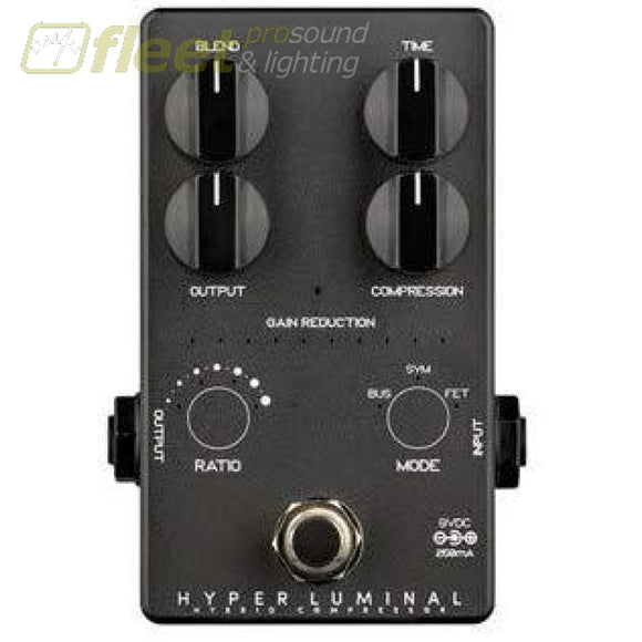 DarkGlass Limited Edition Black Hyper Luminal Hybrid Compressor Bass Effects Pedal BASS FX PEDALS