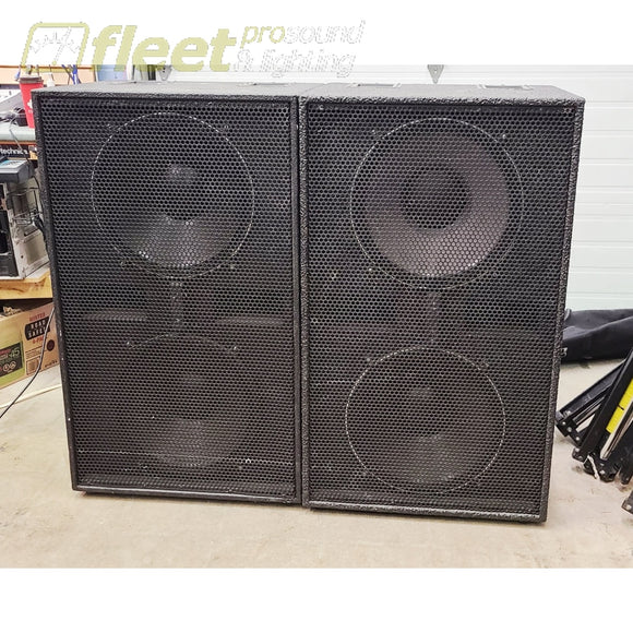 DAS Audio RF215 and RF218 Sound System with Crest CA Amps & crossover complete USED AUDIO