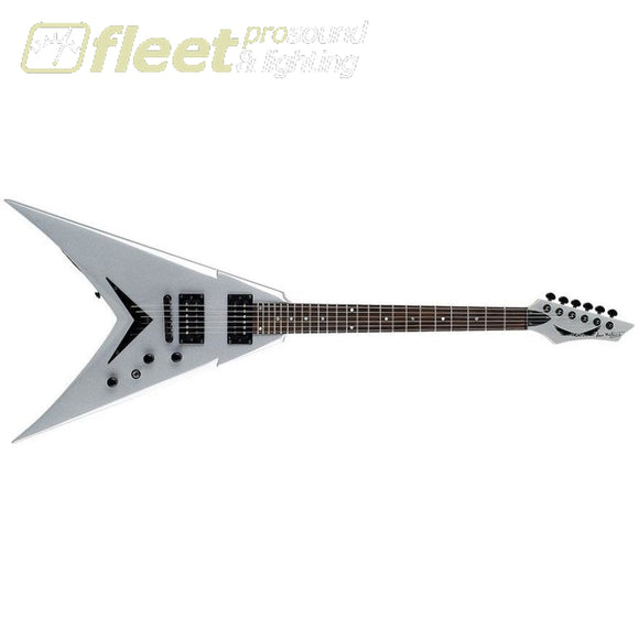 Dean V Dave Mustaine Bolt-On -Metallic Silver Solid Body Guitars