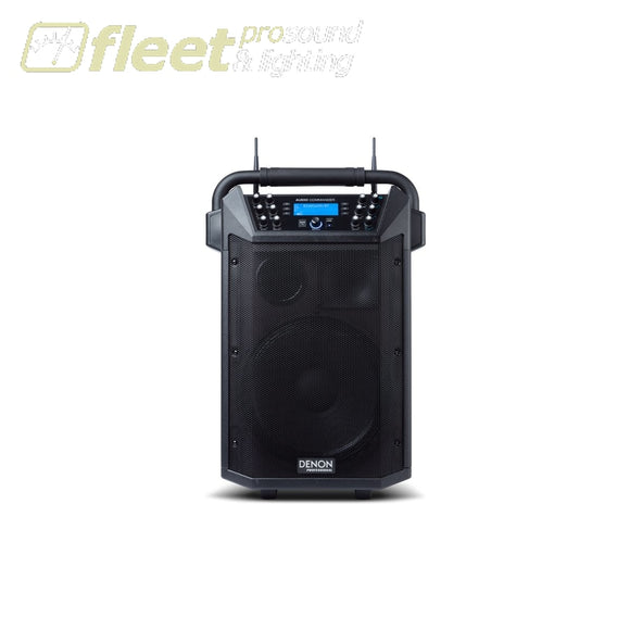 Denon Audio Commander Portable Pa System With Wireless Mics Battery Operated Speakers