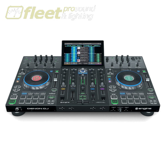 Denon DJ PRIME4 4-Deck Standalone DJ System with 10 Touchscreen DJ INTERFACES