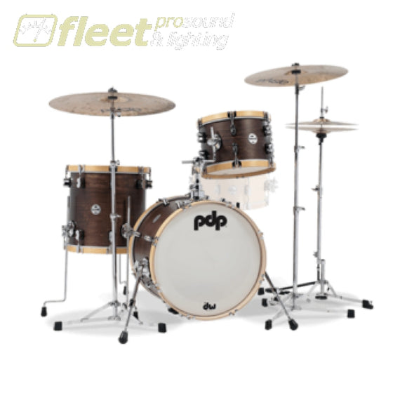 Dw Drums Pdp Concept Classic Wood Hoop Bop In Walnut/natural Pdcc1803Tn Acoustic Drum Kits