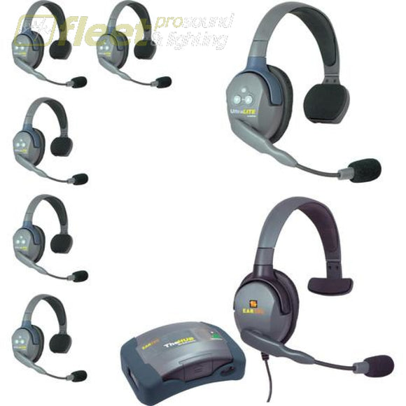 Eartec HUB7-SMXS 7 Person Wireless Communications System with MAX4G headset COMMUNICATIONS