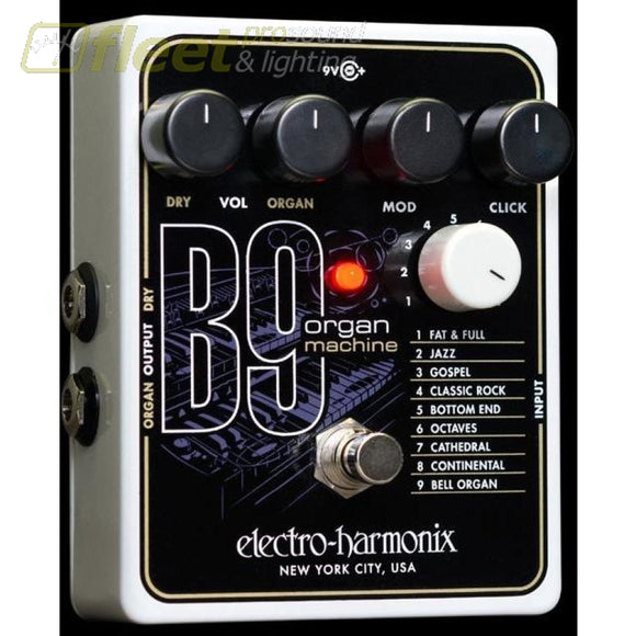 Electro Harmonix B9 Organ Machine Effect Pedal Guitar Tremelo Pedals