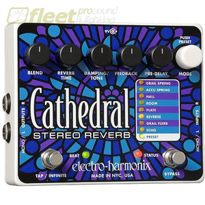 Electro Harmonix Cathedral Stereo Reverb Effect Pedal Guitar Reverb Pedals