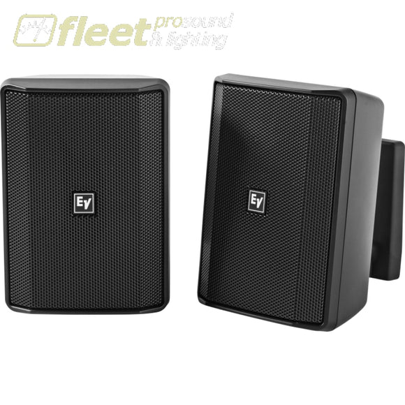 Electro-Voice Evid-S5.2 installation speakers - PAIR - BLACK WALL MOUNT SPEAKERS