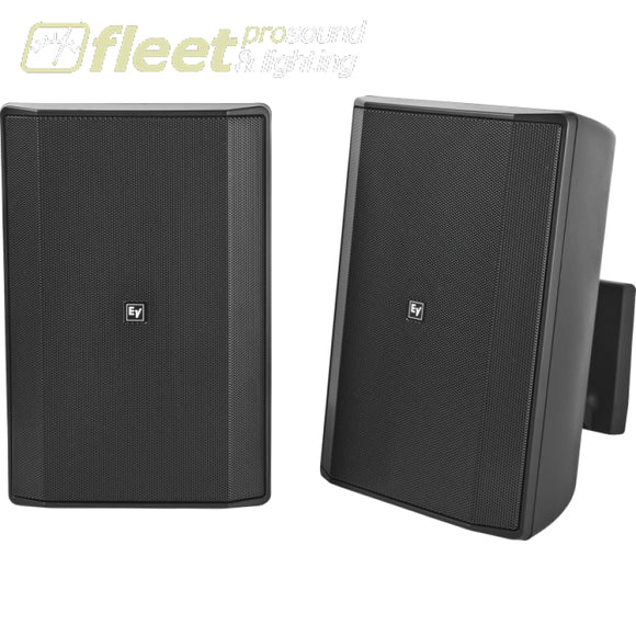 Electro-Voice Evid-S8.2 installation speakers - PAIR - BLACK WALL MOUNT SPEAKERS