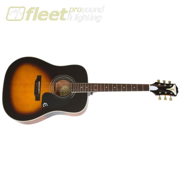 Epiphone Eappvsch Pro 1 Plus Acoustic -Solid Spruce Top Short Scale Ultra Light Strings Vintage Sunburst 6 String Acoustic Without