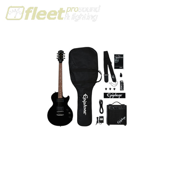 Epiphone ELPJ-EBCHPP Les Paul Player Pack - Ebony ELECTRIC GUITAR STARTER PACKS