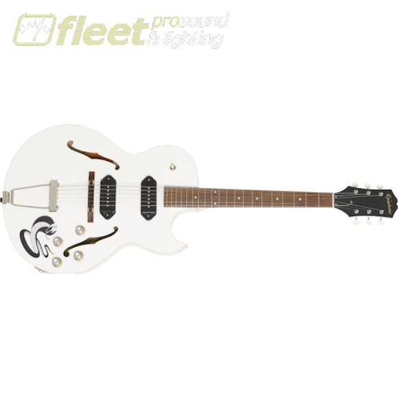 "Epiphone ETGTWF-BWNH George Thorogood ""White Fang"" ES-125TDC Outfit Guitar - Bone White SOLID BODY GUITARS"