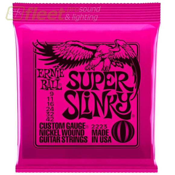 Ernie Ball 2223 Nickel Super Slinky Custom Gauge Electric Guitar Strings Guitar Strings