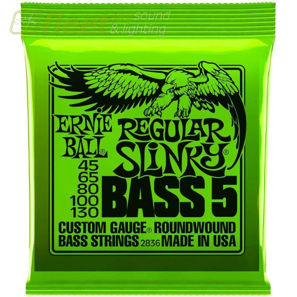 Ernie Ball 2836 Regular Slinky 5-String Roundwound Bass Strings Bass Strings