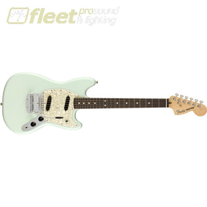 Fender 0115510372 American Performer Mustang Rosewood Fingerboard Satin Sonic Blue Solid Body Guitars