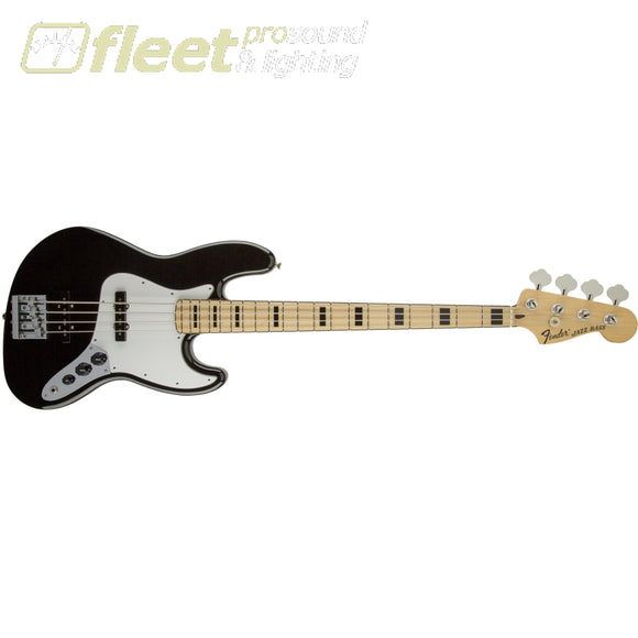 Fender 0147702306 Geddy Lee Jazz Bass Maple FB 3-Ply White Pickguard Black 4 STRING BASSES