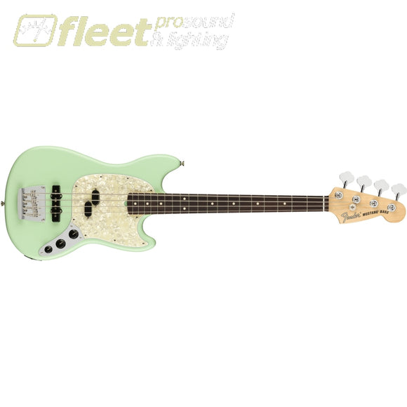 Fender 0198620357 American Performer Mustang Bass® Rosewood Fingerboard Satin Surf Green 4 String Basses