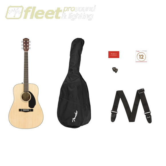 FENDER 0970110421 CD-60S DREADNOUGHT PACK V2 NATURAL ACOUSTIC STARTER PACKS