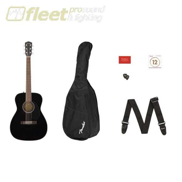 FENDER 0970150406 CC-60S CONCERT PACK V2 BLACK ACOUSTIC STARTER PACKS