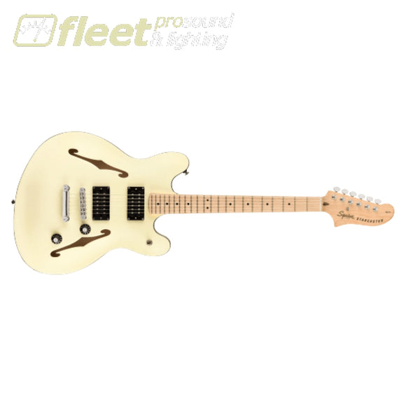 Fender Affinity Series Starcaster Maple Fingerboard Guitar - Olympic White (0370590505) HOLLOW BODY GUITARS