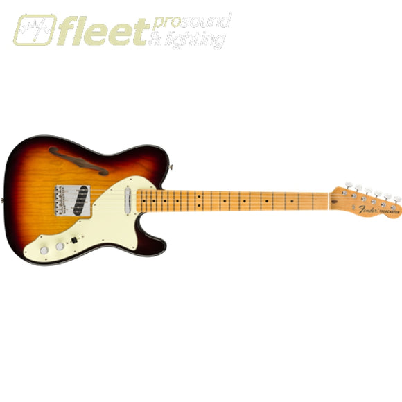 Fender American Original 60s Telecaster Thinline Maple Fingerboard Guitar - 3 Color Sunburst (0110172800) HOLLOW BODY GUITARS