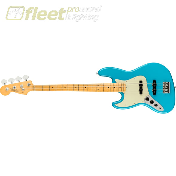 Fender American Professional II Jazz Bass Left-Hand Maple Fingerboard - Miami Blue (0193982719) LEFT HANDED BASS GUITARS