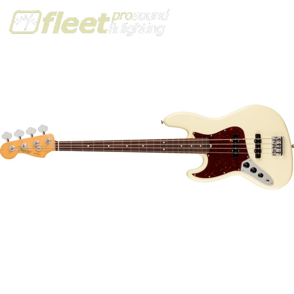 Fender American Professional II Jazz Bass Left-Handed Rosewood Fingerboard - Olympic White (0193980705) LEFT HANDED BASS GUITARS