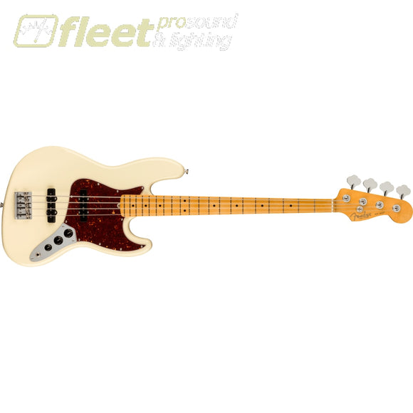 Fender American Professional II Jazz Bass Maple Fingerboard - Olympic White (0193972705) 4 STRING BASSES