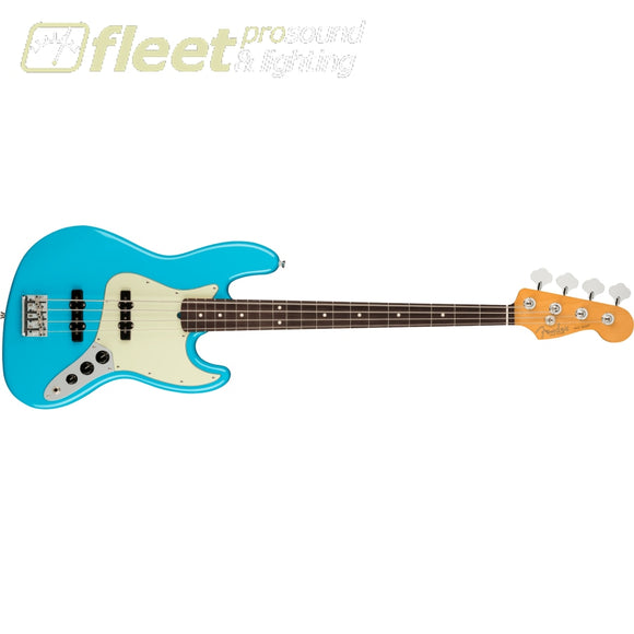 Fender American Professional II Jazz Bass Rosewood Fingerboard - Miami Blue (0193970719) 4 STRING BASSES