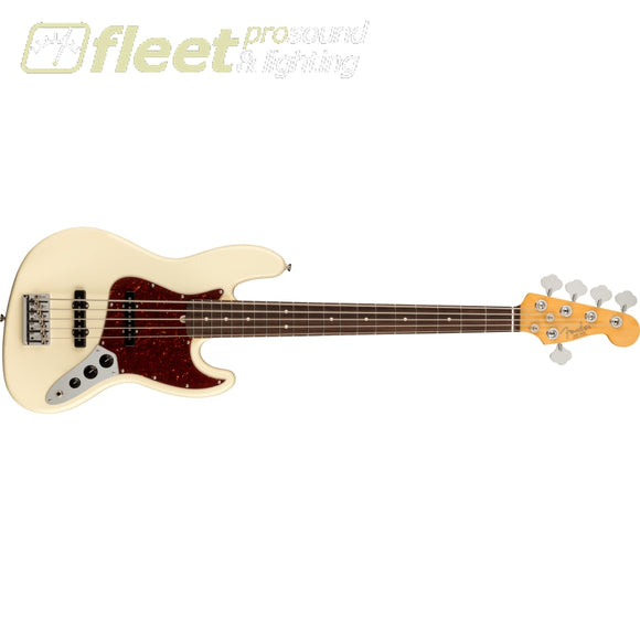 Fender American Professional II Jazz Bass V Rosewood Fingerboard - Olympic White (0193990705) 5 STRING BASSES
