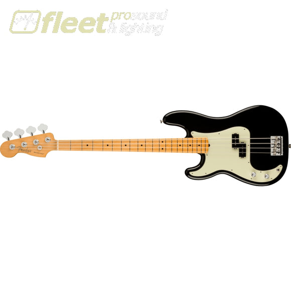 Fender American Professional II Precision Bass Left-Hand Maple Fingerboard - Black (0193942706) LEFT HANDED BASS GUITARS