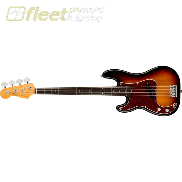 Fender American Professional II Precision Bass Left-Hand Rosewood Fingerboard - 3-Color Sunburst (0193940700) LEFT HANDED BASS GUITARS