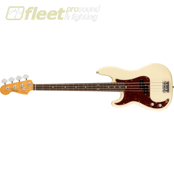 Fender American Professional II Precision Bass Left-Hand Rosewood Fingerboard - Olympic White (0193940705) LEFT HANDED BASS GUITARS