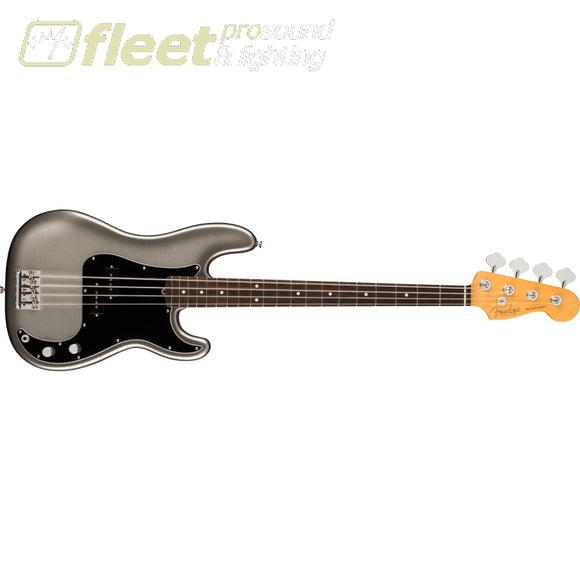 Fender American Professional II Precision Bass Rosewood Fingerboard - Mercury (0193930755) 4 STRING BASSES