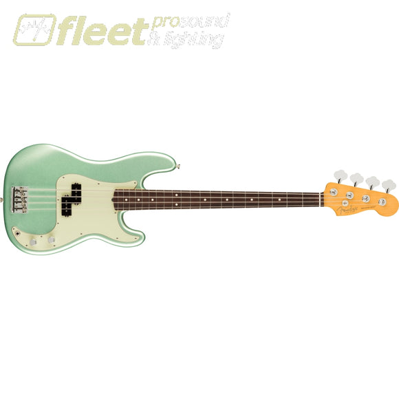 Fender American Professional II Precision Bass Rosewood Fingerboard - Mystic Surf Green (0193930718) 4 STRING BASSES