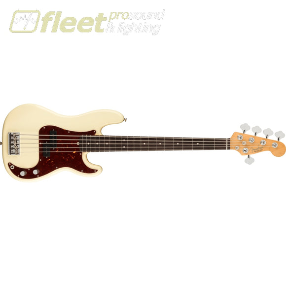 Fender American Professional II Precision Bass V Rosewood Fingerboard - Olympic White (0193960705) 5 STRING BASSES