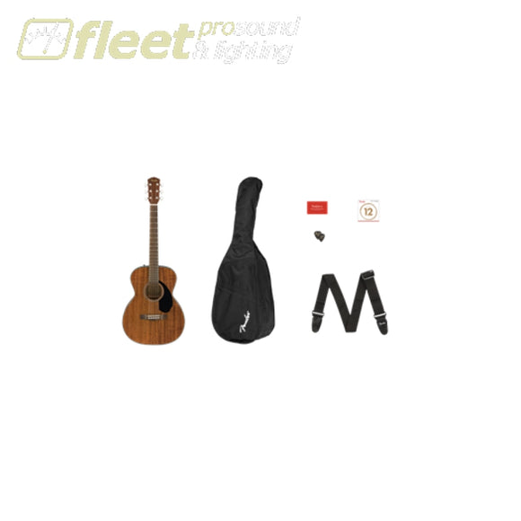 Fender CC-60S Concert Guitar Pack V2 - All-Mahogany (0970150422) ACOUSTIC STARTER PACKS