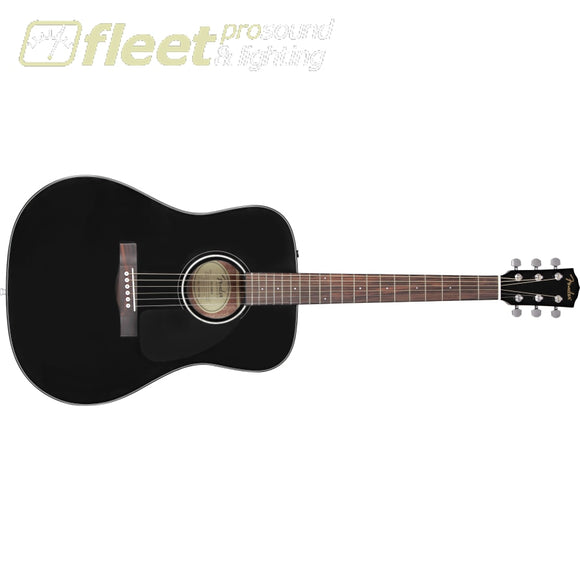 Fender CD-60 Dreadnought V3 w/Case Walnut Fingerboard Acoustic Guitar - Black (0970110206) 6 STRING ACOUSTIC WITHOUT ELECTRONICS