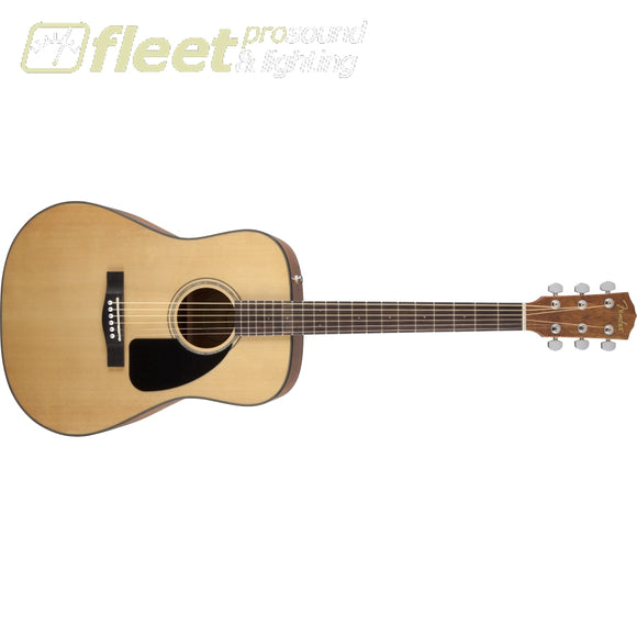Fender CD-60 Dreadnought V3 w/Case Walnut Fingerboard Acoustic Guitar - Natural (0970110221) 6 STRING ACOUSTIC WITHOUT ELECTRONICS