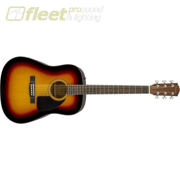 Fender CD-60 Dreadnought V3 w/Case Walnut Fingerboard Acoustic Guitar - Sunburst (0970110232) 6 STRING ACOUSTIC WITHOUT ELECTRONICS
