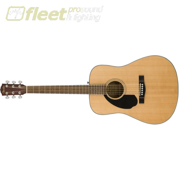 Fender Lefty CD-60S Dreadnaught Walnut Fingerboard- Natural (0970115021) LEFT HANDED ACOUSTICS