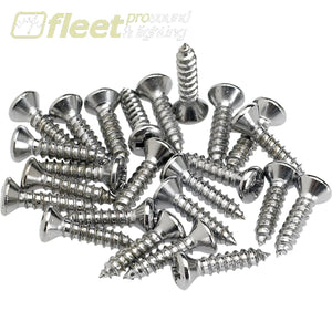 Fender Pickguard/Control Plate Mounting Screws - (24) Chrome (0994923000) GUITAR PARTS