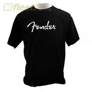 Fender Spaghetti Logo T-Shirt Black Size: Medium Clothing