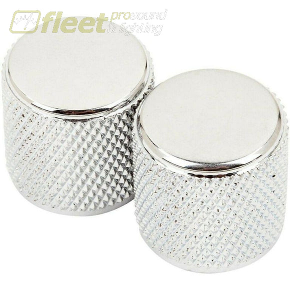 Fender Tele/P-Bass Knurled Knobs (2) - Chrome (0991366000) GUITAR PARTS