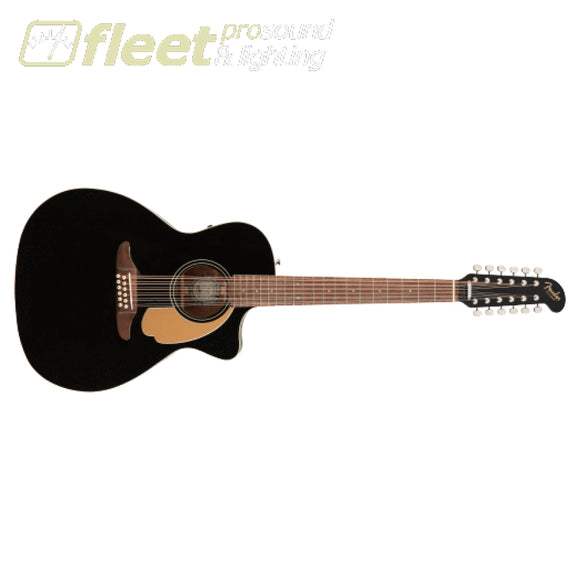 Fender Villager 12-String Walnut Fingerboard Guitar - Black V3 (0970753006) 12 STRING ACOUSTICS