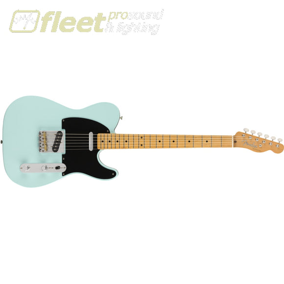 Fender Vintera 50s Telecaster Modified Maple Fingerboard - Daphne Blue (0149862304) SOLID BODY GUITARS