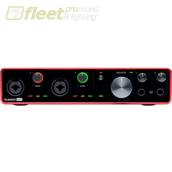 Focusrite Scarlett 8i6 USB Audio Interface - 3rd Generation USB AUDIO INTERFACES