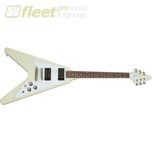 Gibson DSVS00-CWCH 70s Flying V Guitar w/ Case - Classic White SOLID BODY GUITARS
