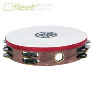 Gon Bops Ptamwh2 10 Wood Tambourine With Head And Double Row Jingles Tambourines